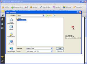 Flash-Datei auswählen