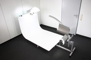 360° Produktfotosystem TopShow3D - Drehteller mit Hintergrund, Beleuchtung und Bogenarm