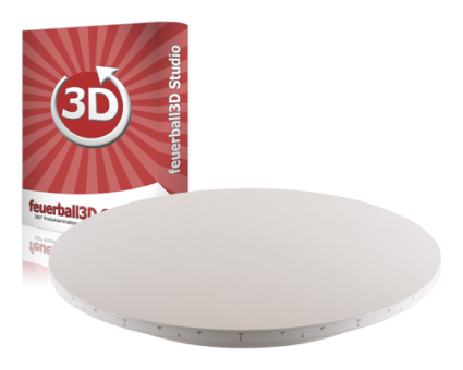 Software feuerball3D Studio + 360° Drehteller (80cm)
